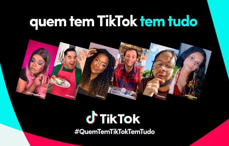 Nova campanha do TikTok com Emicida. Foto: Divulgação
